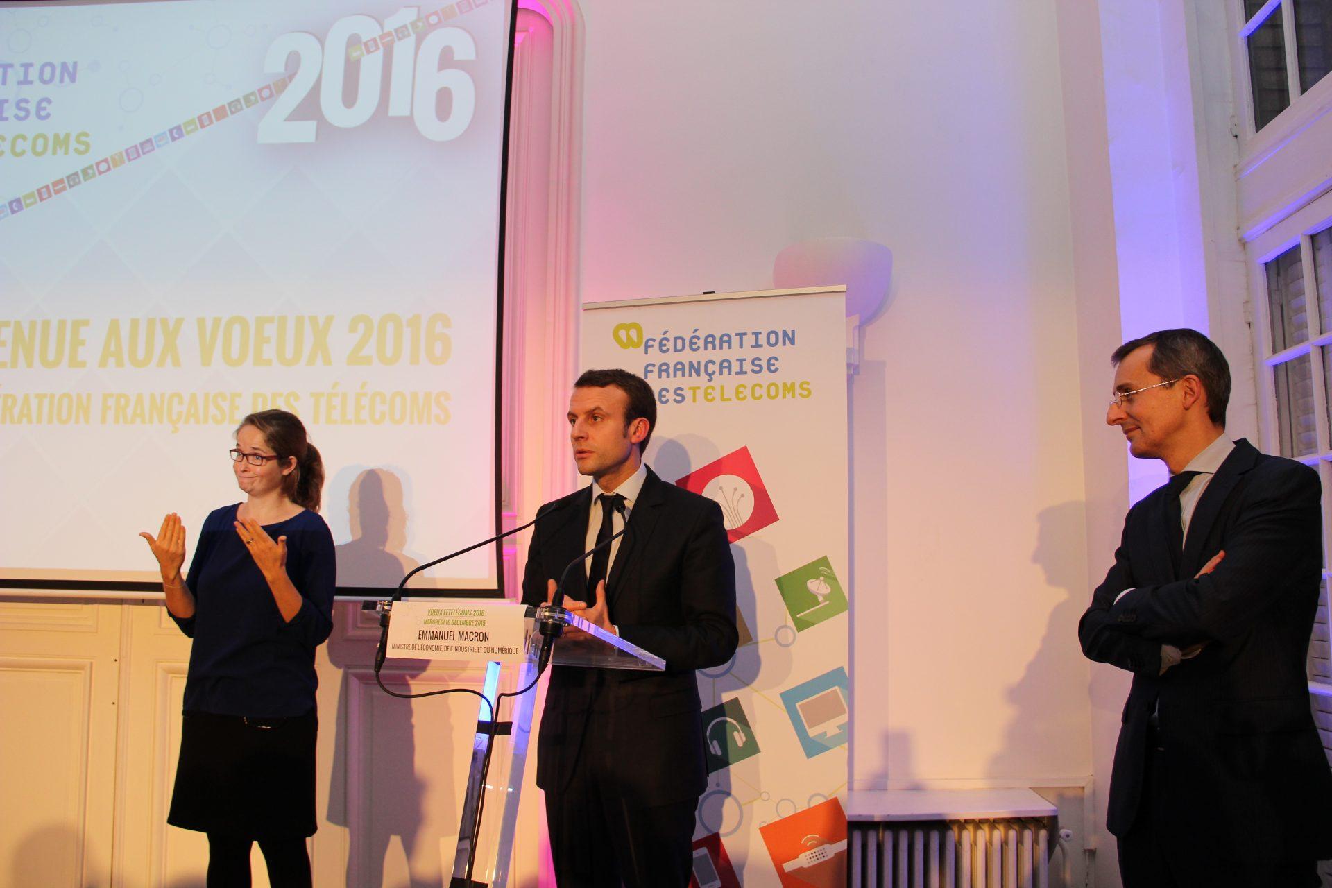 Ceremonie Des Vœux 2016 Replay Discours De Didier Casas Et Emmanuel Macron Federation Francaise Des Telecoms