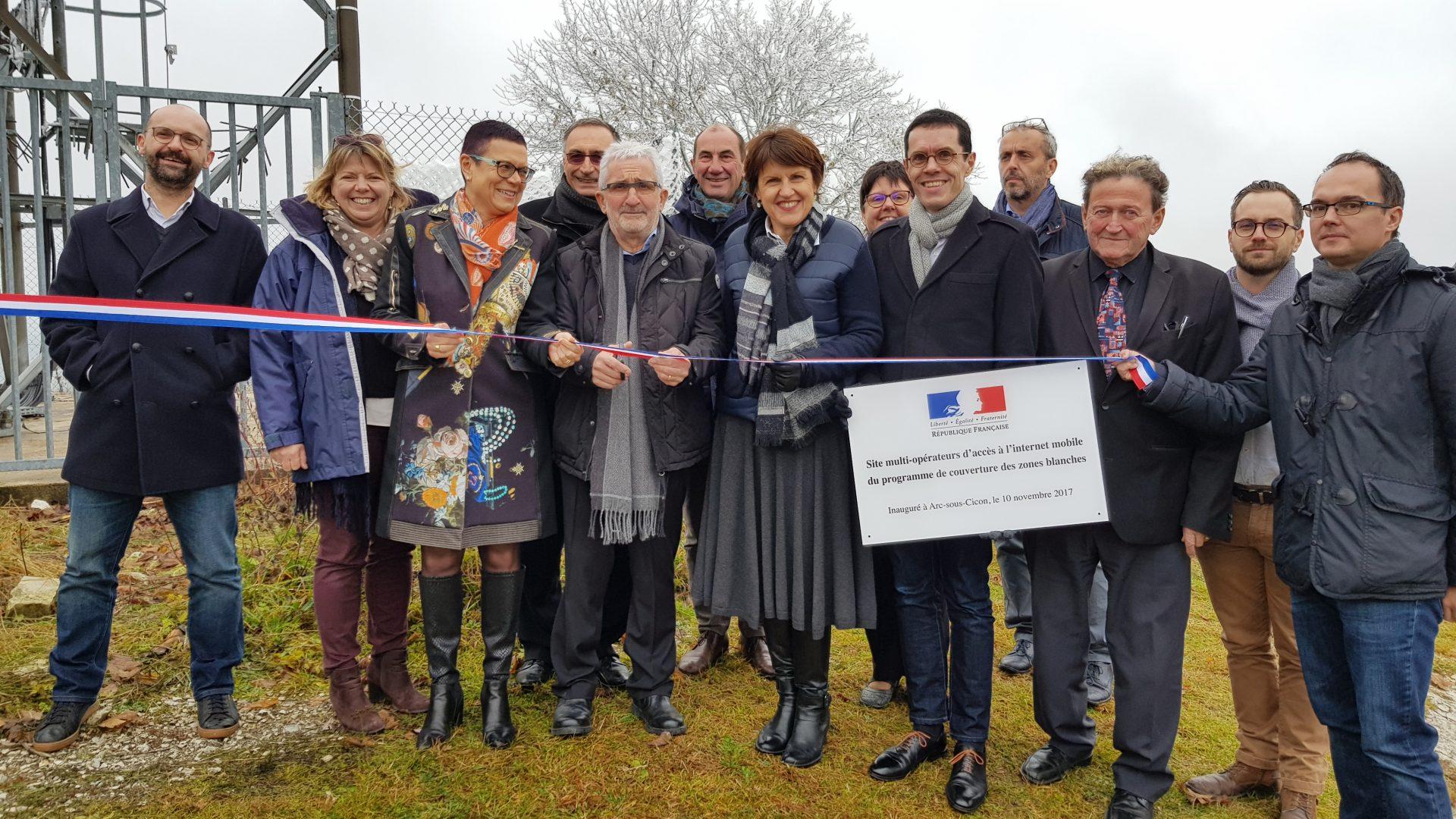 Inauguration Dun Pylône Multi Opérateurs à Arc Sous Cicon Doubs