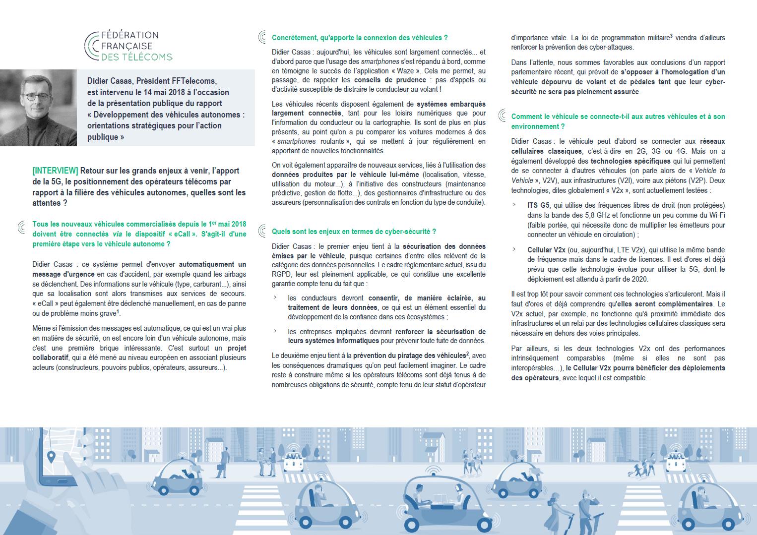 Véhicules autonomes - Interview Didier Casas (page 1) - Fédération ... Véhicules autonomes – Interview Didier Casas (page 1)