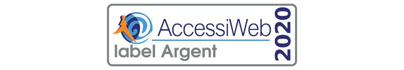 Logo du label Argent 2020 AccessiWeb.
