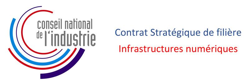 Logo du Conseil National de l'Industrie - Contrat Stratégique de filière Infrastructures numériques.